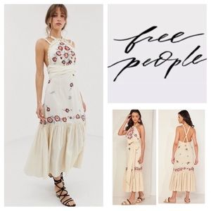 Free People Chrysanthemum Kiss Embroidered Dress